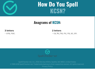 Correct spelling for kcsn