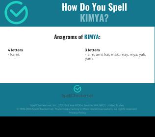 Correct spelling for kimya