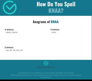 Correct spelling for knaa