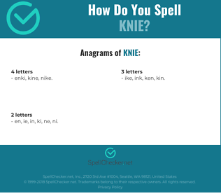 Correct spelling for knie