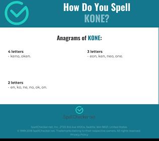 Correct spelling for kone