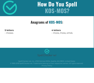 Correct spelling for kos-mos