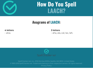 Correct spelling for laach