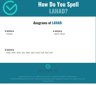 Correct spelling for lahad