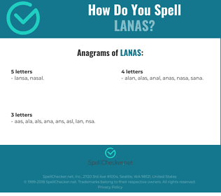 Correct spelling for lanas