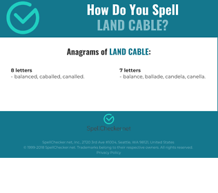 Correct spelling for land cable