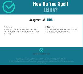 Correct spelling for leira