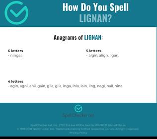 Correct spelling for lignan