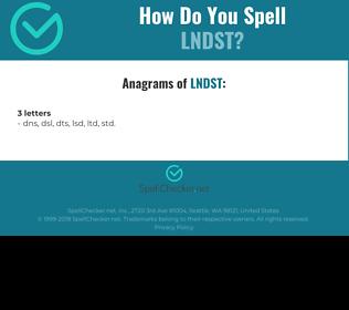 Correct spelling for lndst