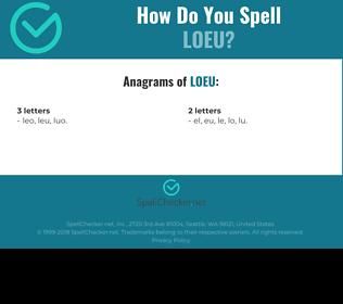 Correct spelling for loeu