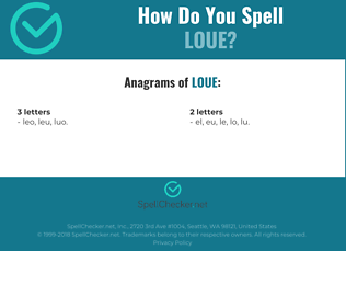 Correct spelling for loue