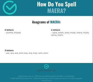 Correct spelling for maera