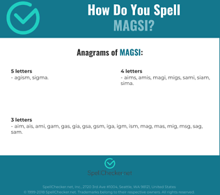 Correct spelling for magsi