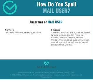 Correct spelling for mail user
