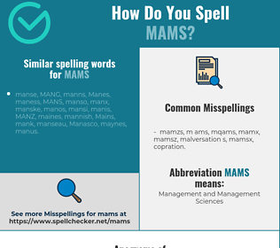Correct spelling for mams