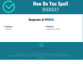 Correct spelling for manaa