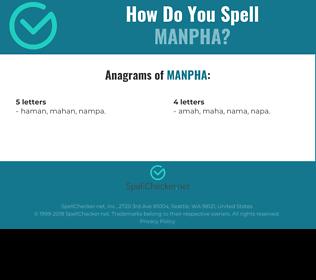 Correct spelling for manpha