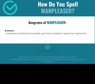 Correct spelling for manpleaser
