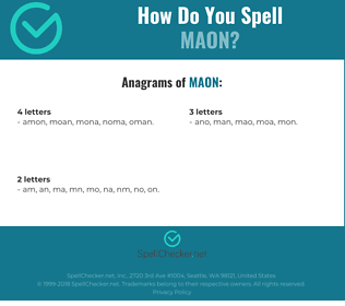Correct spelling for maon