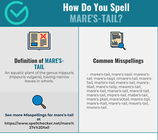 Correct spelling for mare's-tail