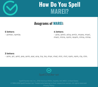 Correct spelling for marei