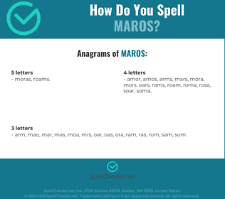 Correct spelling for maros