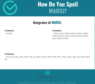 Correct spelling for marsi