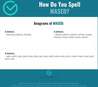 Correct spelling for mased