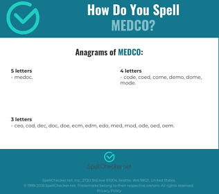 Correct spelling for medco