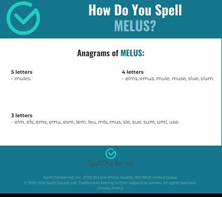 Correct spelling for melus