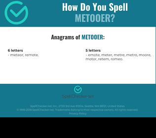 Correct spelling for metooer
