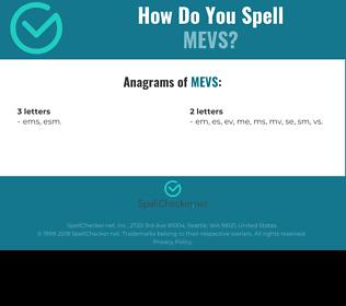 Correct spelling for mevs