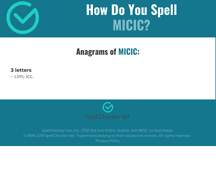 Correct spelling for micic