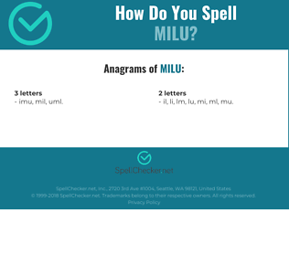 Correct spelling for milu