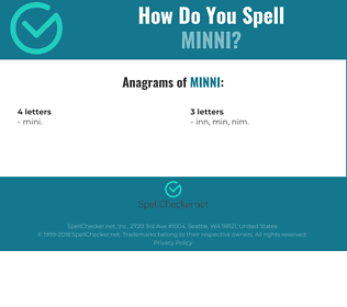 Correct spelling for minni