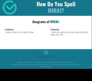 Correct spelling for mirai