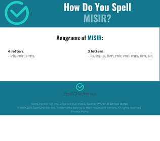 Correct spelling for misir