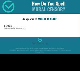 Correct spelling for moral censor