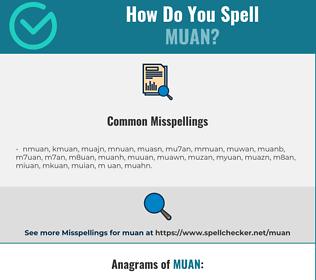 Correct spelling for muan