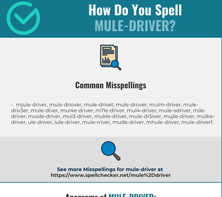 Correct spelling for mule-driver