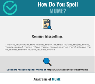 Correct spelling for mume