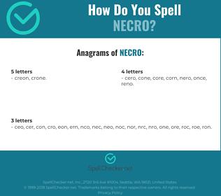 Correct spelling for necro