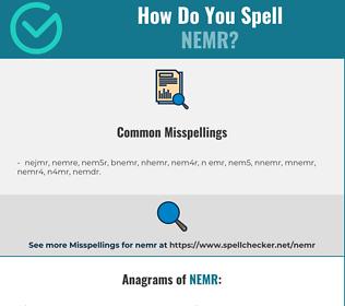 Correct spelling for nemr