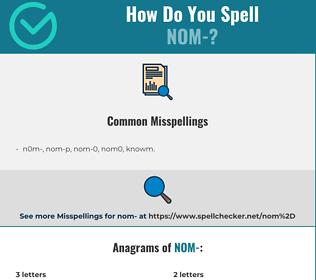 Correct spelling for nom-