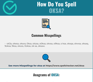 Correct spelling for oksa