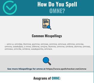 Correct spelling for omne