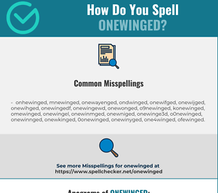 Correct spelling for onewinged