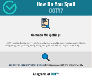 Correct spelling for ooty