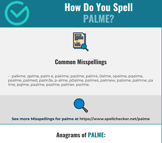 Correct spelling for palme