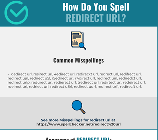 Correct spelling for redirect url